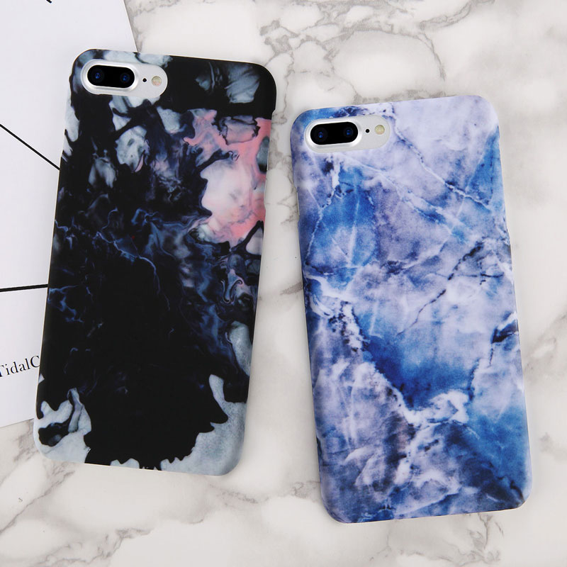 Luxury Stone Marble Pattern Phone Case Shockproof PC Cover  for iPhone