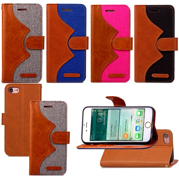 Colorful Premium Flip Stand Leather Wallet Case Cover