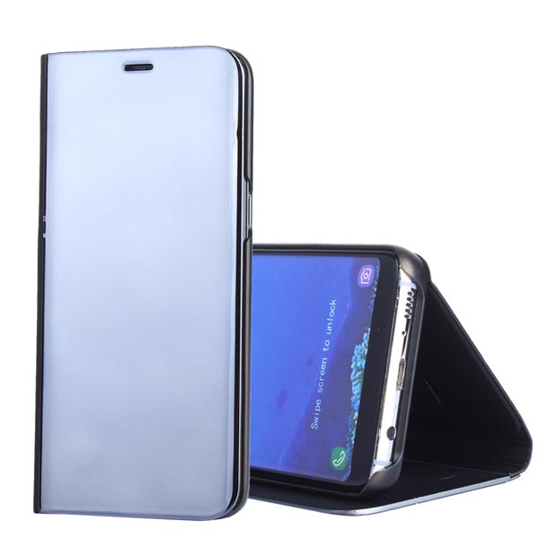Cover for Samsung Galaxy S8 edge Note 8 Case View Mirror Leather Flip Stand