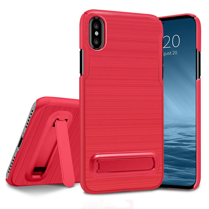 New Arrival PC stand hard case for iphone X