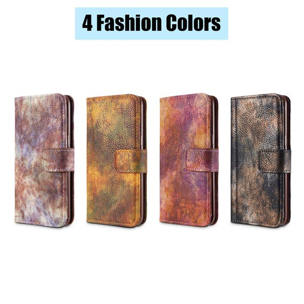Luxury Shockproof Leather Wallet Forest fantasy Case