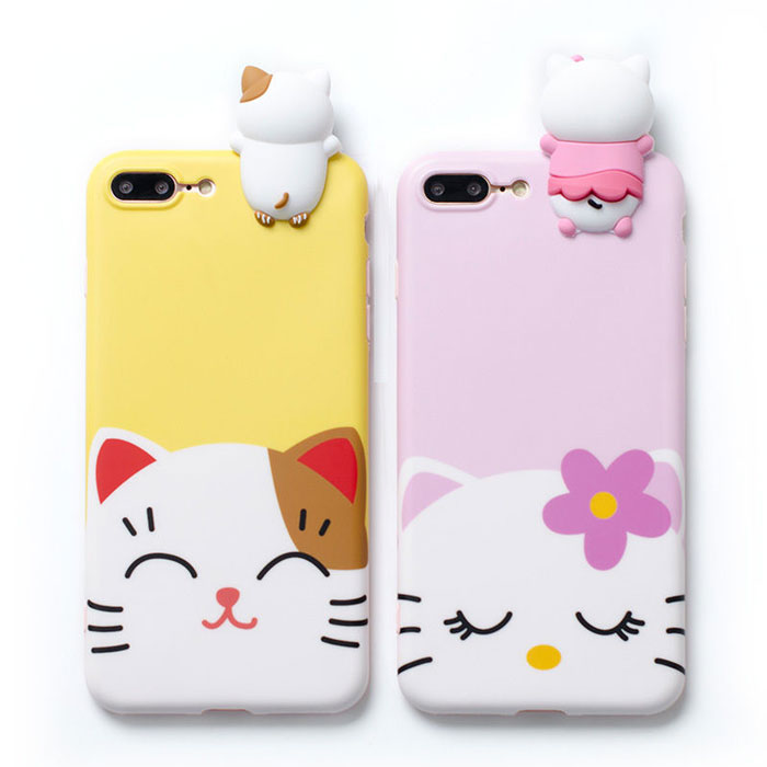 cartoon Cute PC hard phone case for Iphone ,Samsung