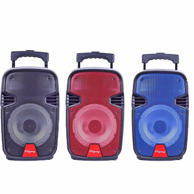 Outdoor Portable Bluetooth Speaker Rechargeable MIC LED Lights