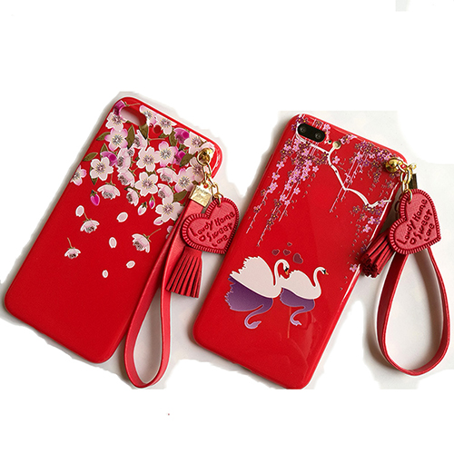 Red silicone cell phone case