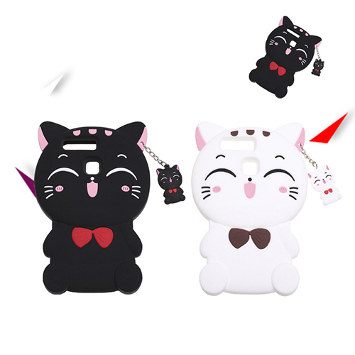 cute cat silicone cell phone case