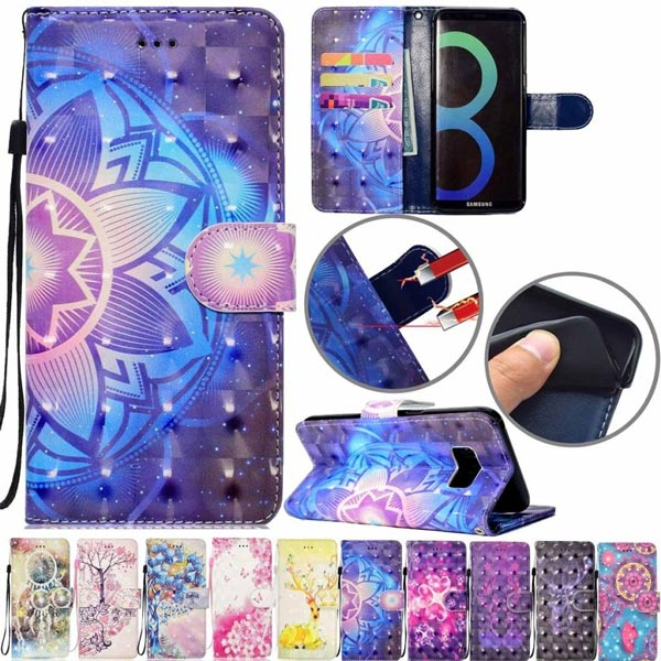 Pattern Shockproof Flip Card Slot Wallet Leather Case